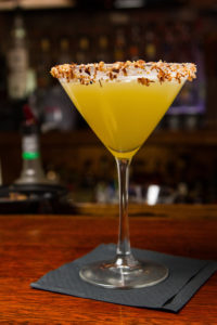 Coconut Martini with toasted coconut rim