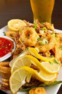 Fried Calamari with beer