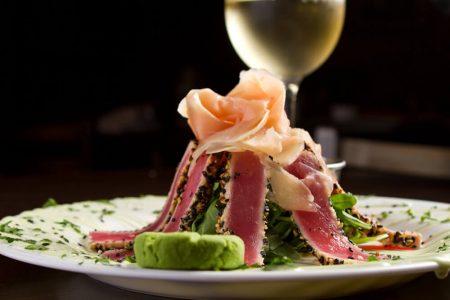 Seared Ahi Tuna dish