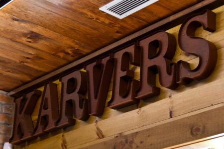 Karvers light up letters on wall