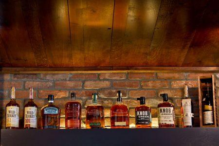Whiskey on shelf