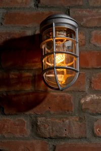 Interior light on brick wall