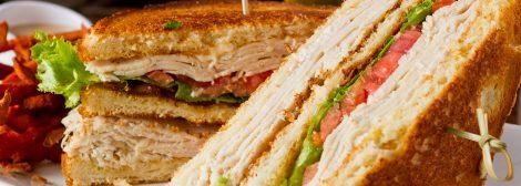 Close up of Turkey Clubber sandwich